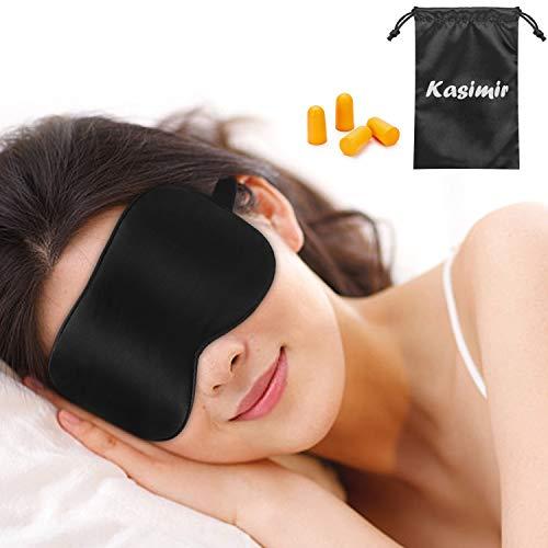 Masque de Sommeil Masque de Nuit Soie Kasimir 100% Soie Naturelle Occultant...