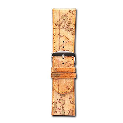 Cinturino in vera pelle marrone 20mm 30mm. Cinturino per orologi in pelle decorata