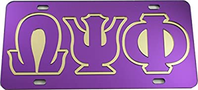 Made Of: Acrylic Plastic Made In: U.S.A. Size: Car or Truck Color: Purple/Purple/Gold