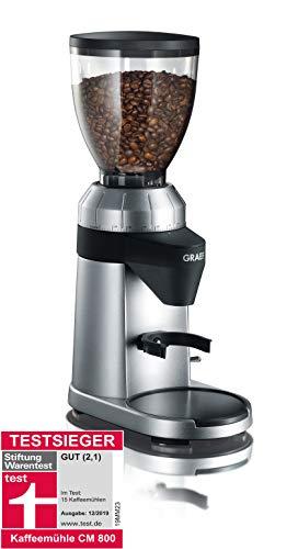 Graef CM800 - Molinillo de café, 128 W, Color Plateado