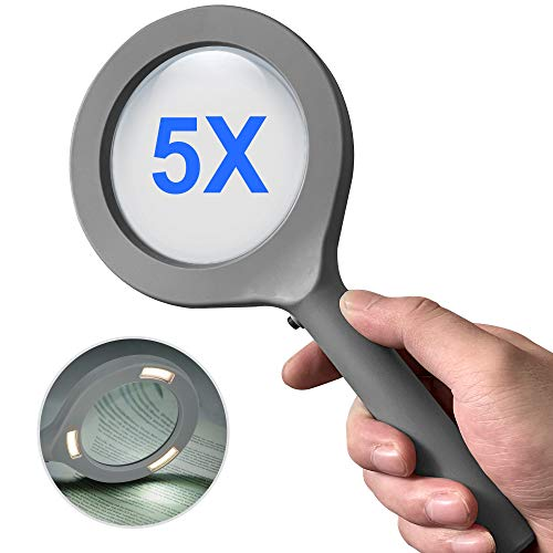 Magnifying Glass with Light, Aepto Lighted 5X Handheld...