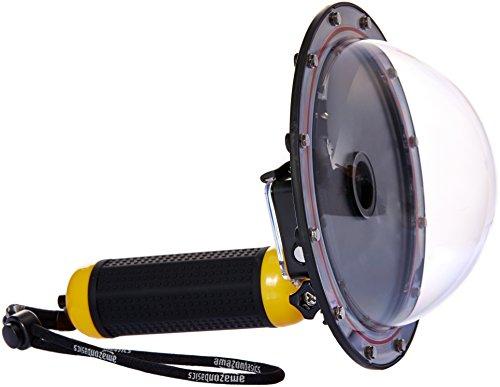 AmazonBasics - Impugnatura con sistema subacqueo dome per GoPro HERO3+ e HERO4, Giallo