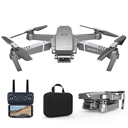 LCSA Drone Quadcopter UAV with 48MP Camera 4K Video 3-Axis Gimbal 34 min Flight Time,Gravity Sensor Function,One Key Take Off/Landing, Silver 1080P
