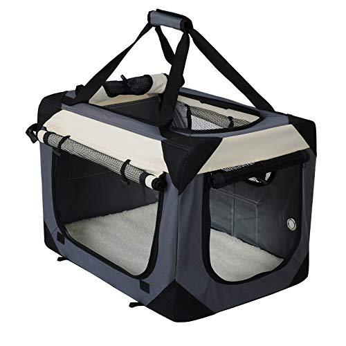 EUGAD 0145HT Cage de Chien en Oxford Sac de Transport Pliable,Taille 102x69x69cm,Gris
