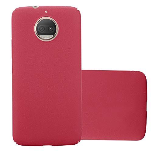 Cadorabo Funda para Motorola Moto G5S Plus en Frosty Rojo – Cubierta Protección de Plástico Duro Super Delgada e Inflexible con Antichoque – Case Cover Carcasa Protectora Ligera