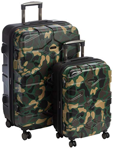HAUPTSTADTKOFFER - X-Kölln - 2er Koffer-Set Trolley-Set Rollkoffer Reisekoffer, TSA, (S & L), Camouflage matt