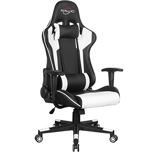 Polar Aurora Gaming Chair Racing Style High-Back PU Leather Office...