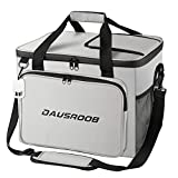 DAUSROOB 50 CAN Cooler Bag Lunch Bag Insulated and Collapsible Large Lunch Box 32L Leakproof Softside Cooler Portable Tote for Camping/Shopping/BBQ/Family Outdoor Activities(Grey)