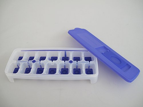 Tupperware, contenitore da congelatore per creare cubetti di ghiaccio, viola e bianco, G29 31087