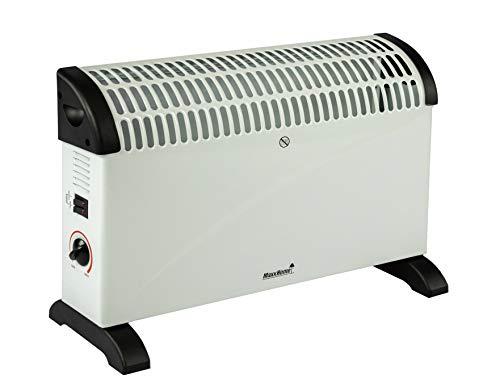 Convecteur de Chauffage, 2000W, Blanc/Noir
