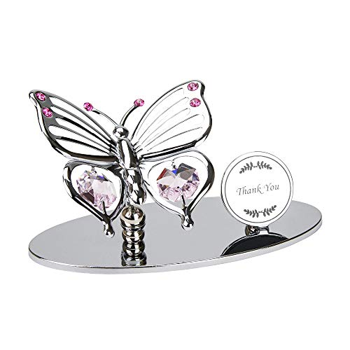 Haysom Interiors Silver Plated Metal Butterfly Thank You...