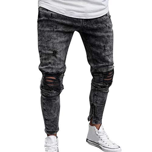 Men's Skinny Jeans Fashion Teen Boys Stretch Slim Fit Ripped...