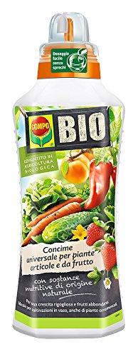 COMPO BIO Concime Universale per Piante Orticole e da Frutto, Consentito in Agricoltura Biologica, 1 l