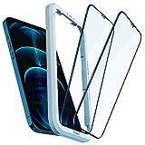 Spigen AlignMaster 全面保護 ガラスフィルム iPhone 12 Pro Max 用 ガイド枠付き iPhone12Pro……