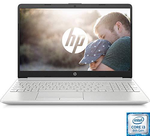 HP PC Portable 15-dw0051nf 15'' FHD Argent (Intel Core i3 8145U, RAM 4 Go, SSD 128 Go + 1 To Disque dur, Windows 10)