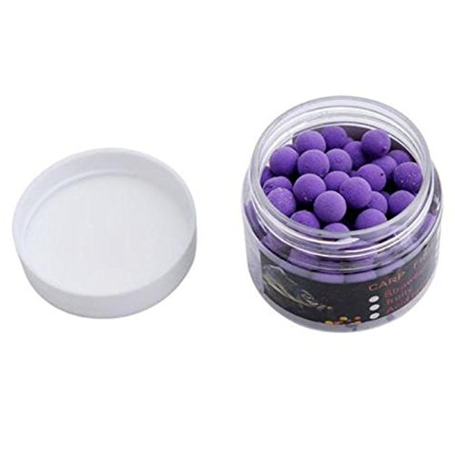 TOOGOO 1 Box Odore Pop up Fishing Lure Boilies Galleggiante Carpa Esche Solubile in acqua Viola-dolce 14mm