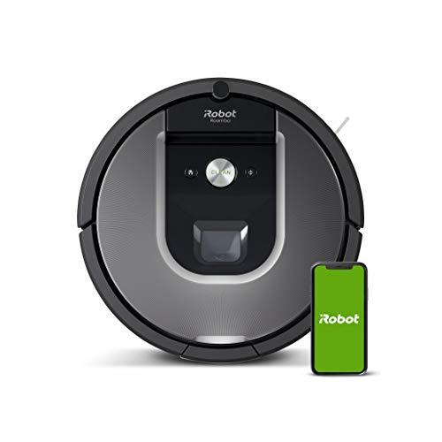 iRobot Roomba 960 Robot Aspirador, Succión 5 Veces Superior, Cepillos de Goma Antienredos, Sensores Dirt Detect, Wifi, Programable por App,...