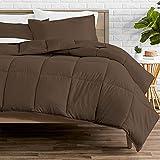 Bare Home Comforter Set - Queen Size - Goose Down Alternative - Ultra-Soft - Premium 1800 Series - All Season Warmth (Queen, Cocoa)