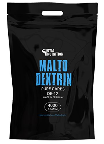 GYM-NUTRITION Hardcore Malto-dextrin   Feines Kohlenhydrate Pulver   Beliebt bei Fitness Powerlifing & Bodybuilding   Ideal für Hardgainer   Made in Germany   Maltodextrin 12   4 kg Beutel