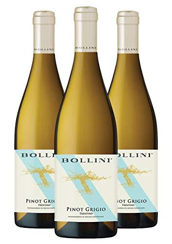 Bollini Pinot Grigio 2020-91 punti Luca Maroni - Vino Trentino Bianco - DOC - 0.75L - 3 Bottiglie