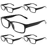 Gaoye 5-Pack Reading Glasses Blue Light Blocking,Spring Hinge Readers for Women Men Anti Glare Filter Lightweight Eyeglasses (5-pack Light Black, 2.0)