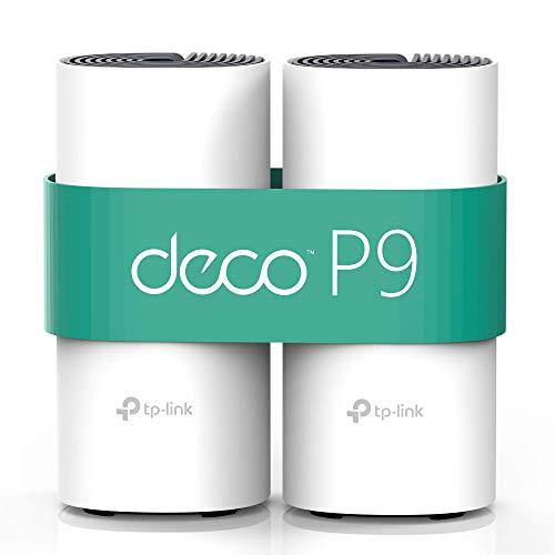 TP-Link Deco P9 (2-Pack) - PLC Wi-Fi Mesh Híbrido con Powerline,...
