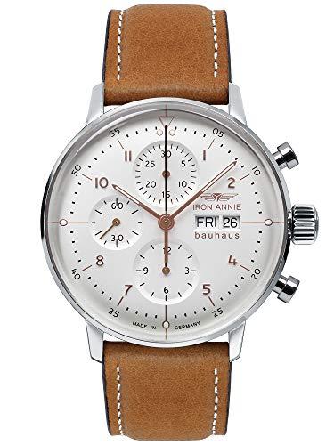IRON ANNIE Herren-Armbanduhr Bauhaus mit Automatik Chronograph Werk
