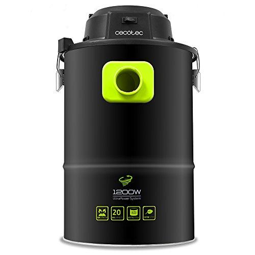Cecotec Conga PowerAsh - Aspiratore di cenere, 1200 W, serbatoio metallico da 20 litri, nero, 5084