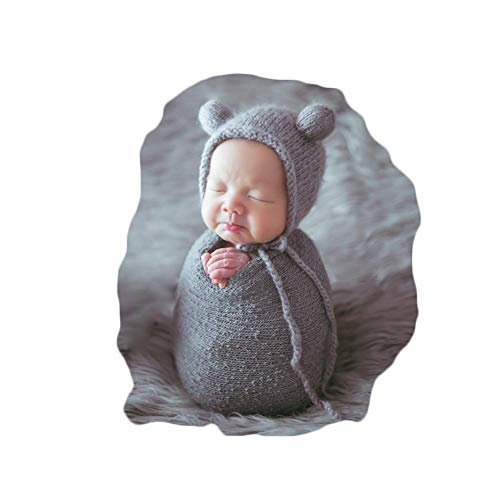 Newborn Baby Photography Props Outfits Hat Long Ripple Wrap Set...