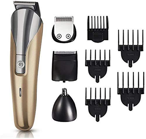 DLLY - Tagliacapelli professionale 7 in 1, senza fili, ricaricabile, per parrucchiere, barbiere e...