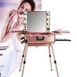 ZXCASD Maleta De Maquillaje Estuche Cosméticos con Función De Música Maletín Trolley Beauty Case Makeup para Peluquería, Maquilladores, Esteticistas