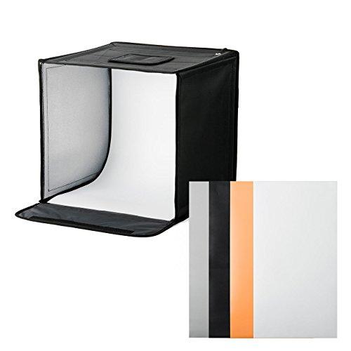サンワダイレクト 撮影ボックス 40×40cm 折りたたみ LEDライト付き 背景4色付き USB電源 200-DG015
