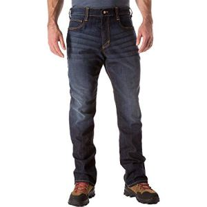 5.11 Tactical Men's Defender-Flex Straight Jeans, Mechanical Stretch Fabric, Classic Pockets, Style 74477