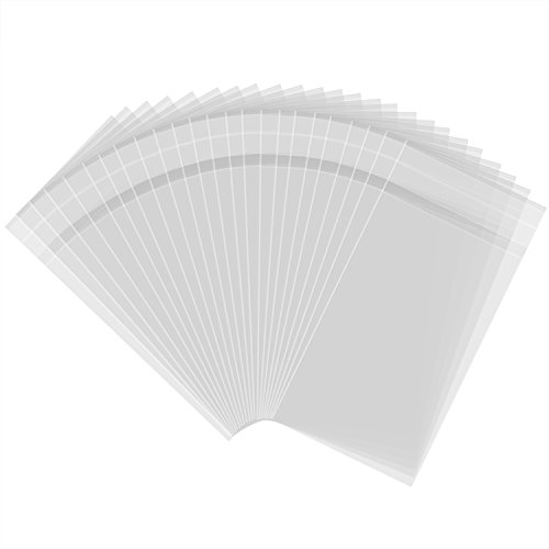 300 Pezzi 3 da 5 Pollici Sacchetti Plastica Sacchetti Trasparenti Adesivo per Prodotti da Forno, Caramelle, Sapone, Biscotto