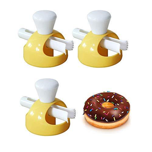 3 Piezas Fabricante De Rosquillas De Grado Alimenticio, Molde Cortador De Pan, Rosquilla Con Sumergir Alicates, Rosquilla De Plástico Molde Delicioso, Diy Doughnut Fried Donut Maker Cutter
