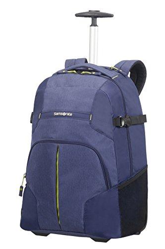 Samsonite Rewind, Laptop Zaino con Ruote Unisex, Blu (Dark Blue), 32.5 liters, XL (55cm-32.5L)