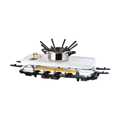 TV - Unser Original 05497200130 Gourmetmaxx Raclette- und Fondue-Set Keramik