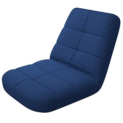 bonVIVO Easy Lounge, Sedia Pieghevole Regolabile con Schienale, Sedia Portatile per Casa o Ufficio Ideale Come Poltrona Relax da PC o Cuscino da Meditazione e Yoga - Disponibile in Blu e Grigio