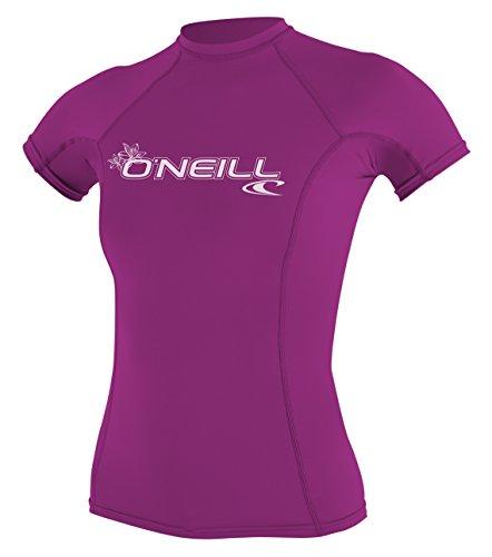ONEILL WETSUITS O'Neill Maglia da Snorkeling da Donna Wms Basic Skins S/S Crew, con Protezione UV,...