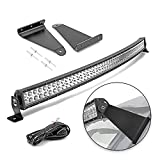 DaSen Upper Roof Brackets Pro-fit Cage Mount w/ 50'/52'' 288W High Power Curved LED Light...