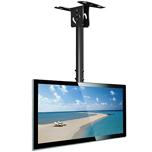 Everstone Full Motion TV Ceiling Mount for 23 to 55' TV Swivel and Tilting BracketFit Most Plasma LED LCD Flat Screen and Curved TVs, Up to VESA 400x400mm, HDMI Cable and Level