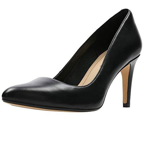 Clarks Laina Rae, Escarpins Femme, Noir (Black Leather), 39 EU