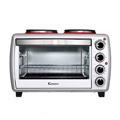 25-l-Elektro-Minibackofen Mit Doppelter Kochplatte Mehreren Kochfunktionen Und Grill, Einstellbarer Temperaturregelung Und Timer - 1500 W