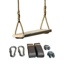 Wood Tree Swing – Great Outdoor or Indoor Premier Wooden Tree Swing for Adults or Children – Complete Kit – Easy Quick and Ready to Hang
