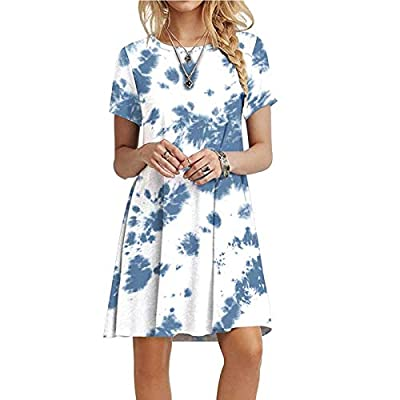 Features:Casual Dress For Women Style:Daily, BeachParty,Work Mini Skirt Material:Polyeste Beach Sundress Occasion:Spring,Summer,Autumn Tunic Sundress
