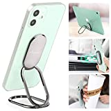Phone Ring Holder Finger Kickstand 360°Rotation Cellphone Back Grip Foldable Cell Phone Stand for Desk Compatible with iPhone iPad Smartphones Tablets ( w/ Universal Magnetic Car Mount)