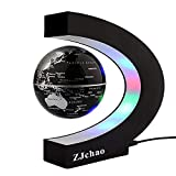 ZJchao Lumineux Globe Terrestre Flottant Magnétique Levitation Globe Lumières LED avec Base en...