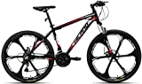Hiland 26 Inch Mountain Bike Aluminum 21 Speeds 3/6-Spokes for Men Women Men's MTB Bicycle