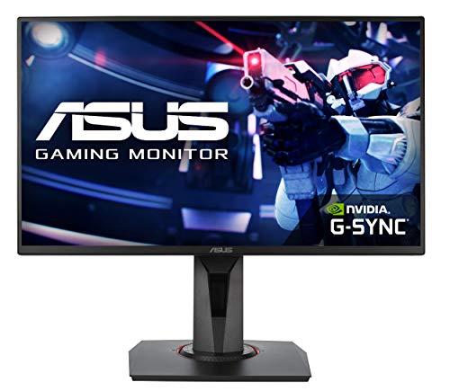 ASUS VG258QR 25'' (24.5'') FHD (1920 x 1080) Esports Gaming Monitor per PC, 0.5 ms, 165 Hz, DP, HDMI, DVI-D , Super Narrow Bezel, FreeSync, Compatibile G-Sync, Filtro Luce Blu, Flicker Free