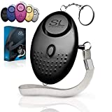 SLFORCE Personal Alarm Siren Song - 130dB Safesound Personal Alarms for Women Keychain with LED Light, Emergency Self Defense for Kids & Elderly. Security Sound Whistle Safety Siren (Black)